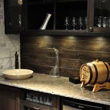 Wood Backsplash For Wet Bar Creates A Great Rustic Feel - Bar backsplash