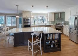 white kitchen cabinets with black island black island cabinet with bookcase white vintage bar stools dark