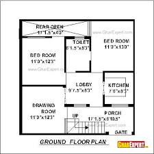 square feet to gaj house plan for 30 feet by 30 feet plot plot size 100 square yards