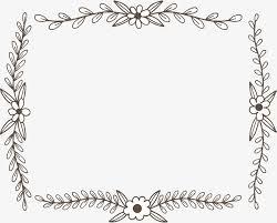 Decorative Frame Png Hand Drawn Flower Rattan Decorative Frame Vector Png Botany