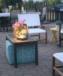 outdoor sitting area light up the night