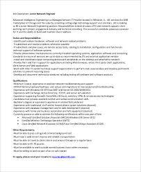 Junior Network Engineer Resume Sample by Sample Network Engineer Job Description 10 Examples In Word Pdf