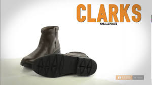 clarks kimball zip boots leather for men youtube