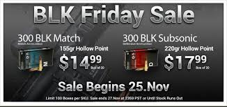 best black friday arms deals 300 aac blackout 300blk 7 62x35mm ammo sale on black friday
