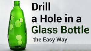 how to drill a hole in a glass bottle the easy way diy fyi