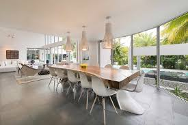World Of Architecture Modern Mansion With Amazing Lighting Florida - Mansion dining room