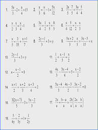 multi step equations with variables both sides fractions solving rational worksheet doc lin solving fractional