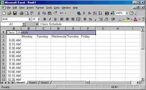 Class Schedule Excel Template Creating A Class Schedule Excel