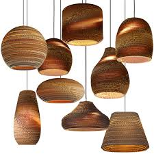 Paper Pendant Lights Handmade Pupa Honeycomb Weave Kraft Paper Pendant Lamp Restaurant