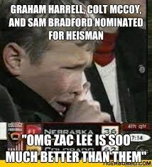 Sam Bradford Memes - graham harrell colt mccoy and sam bradford nominated for heisman