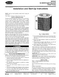 carrier 38ykc instruction manual