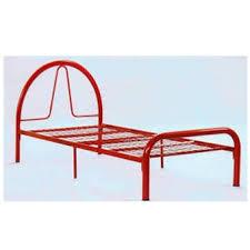 sg tan single metal bed frame red lazada malaysia