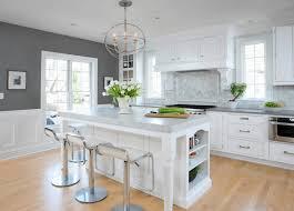 ilot cuisine blanc design interieur credence adhesive ilot cuisine blanc neige parquet