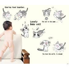 Wall Stickers Cats 30 Anime Wall Decals Cute Anime Cats Wall Decal Wall Art Decals