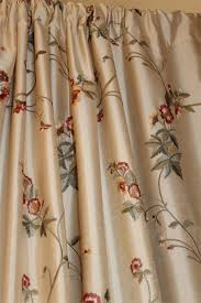 ready made drapery faux silk dupioni cream