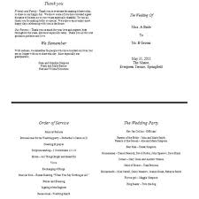 formal wedding program wording sle of a wedding program format free template to
