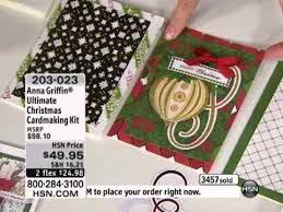 Anna Griffin Card Making - anna griffin ultimate christmas cardmaking kit youtube