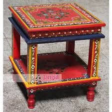 painted furniture table wooden painted furniture at rs 2500 piece lakdi ki