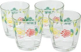 bicchieri in vetro set 4 bicchieri in vetro orianne thun