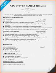 truck driver resume example cdl resume cdl truck driver resume