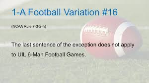 a football rules variations hud parker courtesy of larry boyer
