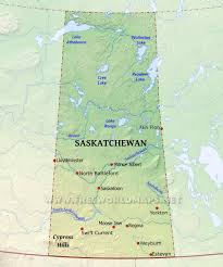 Beaver Lake Map Physical Map Of Saskatchewan