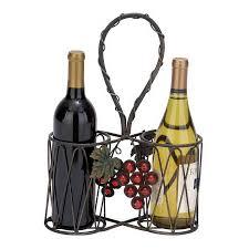 shop woodland imports 2 bottle tabletop wine rack at lowes com