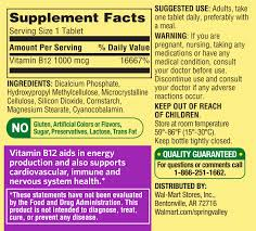 spring valley natural timed release vitamin b12 tablets 1000mcg