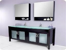 Bathroom Vanities With Glass Tops Double Sink Bathroom Cabinet Color For Master Gray Double