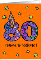 80th birthday cards from greeting card universe