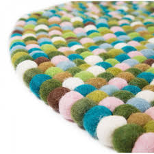 Round Wool Rugs Uk by Round Mixed Green Felt Ball Rug Cult Uk