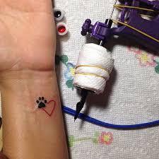best 25 paw print tattoos ideas on pinterest dog tattoos paw