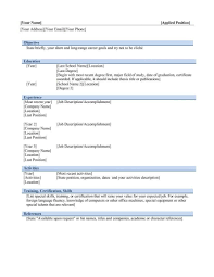 Format For Simple Resume Examples Of Resumes How To Write A Simple Resume Format Template