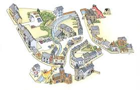 Lyme Map Keith Robinson Illustration Lyme Regis Tourist Map