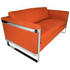 baughman floating chrome sofa