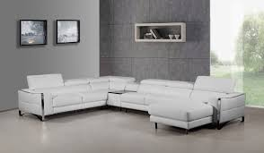White Leather Single Bed Casa Arles Modern White Leather Sectional Sofa