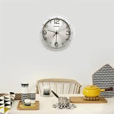 Silent Wall Clock Modern Silent Quiet Wall Clock Quartz Round Clock Movement Metal