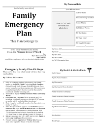 Fire Evacuation Plan Template For Office by Family Emergency Plan Template Template Design