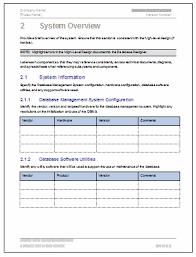Document Template Software database design document template software software templates