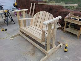Free Plans For Outdoor Wooden Chairs by How To Make A Porch Swing Glider Frame I Used My Great