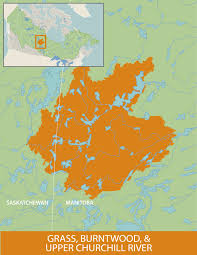 Churchill Canada Map by Wetland Wonders Grass Burntwood And Upper Churchill Watersheds