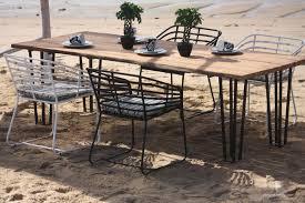 exo teak rectangular dining table hl exo tk 6rcdt patio productions