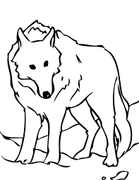 white wolf coloring page handipoints