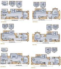 Fifth Wheel Floor Plans 2 Bedroom 5th Wheel Floor Plans With Eagle Premier Fifth Wheels By
