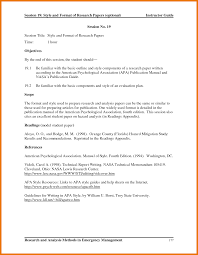 Psychology Research Assistant Cover Letter Apa Cover Letter Format