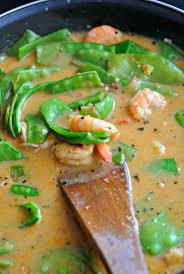 cuisiner des pois gourmands crevettes pois gourmands au lait de coco pimenté the in