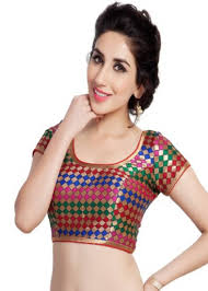 readymade blouses buy multi no embroidery stitched brocade readymade blouses