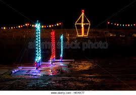 christmas lights mousehole cornwall stock photos u0026 christmas