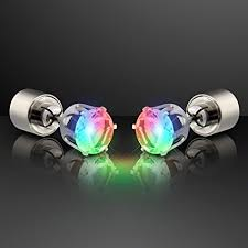 changing earrings color changing light up led earrings for pierced ears