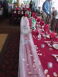 how to use tulle to decorate a table white tulle overlay on edge of table decorated holder for bride s